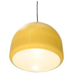 Italian Pendant Lamp in Green Glass, 1950s