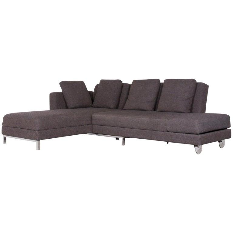 Brühl & Sippold Moule Designer Corner-Sofa Grey Fabric