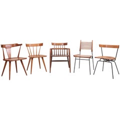 Set of Five Different Paul McCobb Planner Group Chairs for Winchendon