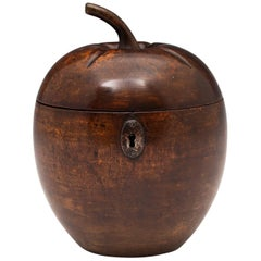 Unusual Rare Fruit Treen Tea Caddy