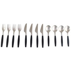 Henning Koppel. Complete Four-Person Dinner Service. Strata Cutlery