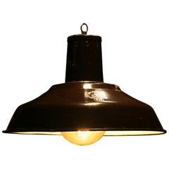 1960s Large Enamelled Factory Lamp Model 33 Mi