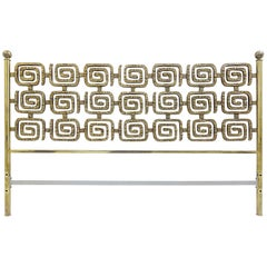 Luciano Frigerio Bed in Brass, Italy, 1970s