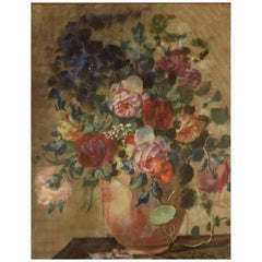 N. P. Bolt. Still Life with Flowers, Pastel, N. P. Bolt, 1920s-1930s