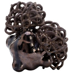 "Ceramic Sculpture ""Bronze Baby Cloud"" by British Artist Tessa Eastman"