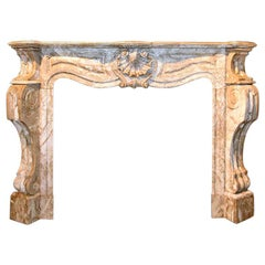 Marble Fireplace Mantel, 19th Century