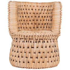 Handcrafted Palm Woven Tule Lounge Chair Made in Mexico by Txt-Ure for Luteca