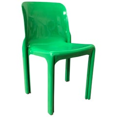 1969, Vico Magistretti for Artemide,  Green Selene Chair