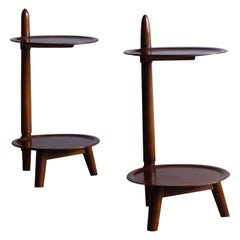 Pair of Mahogany Bi-Level Side Tables