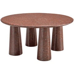 Architectural Stone Coffee Table in Balmoral Red
