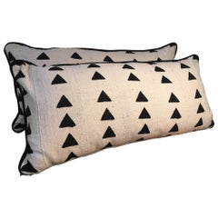 African Mudcloth Pillows, a Pair