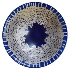 Japanese Platinum-Gilded Porcelain Centerpiece by Master Artist, circa 2005