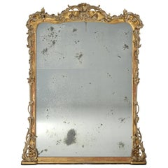Antique Water Gilded Carved Mirror from Scotland, circa 1890