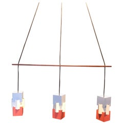 Jo Hammerborg Kubus, Fog & Morup, Triple Pendant Light