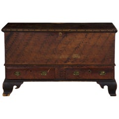 Antique American Painted Dower Blanket Chest of Drawers, Pennsylvania circa 1810