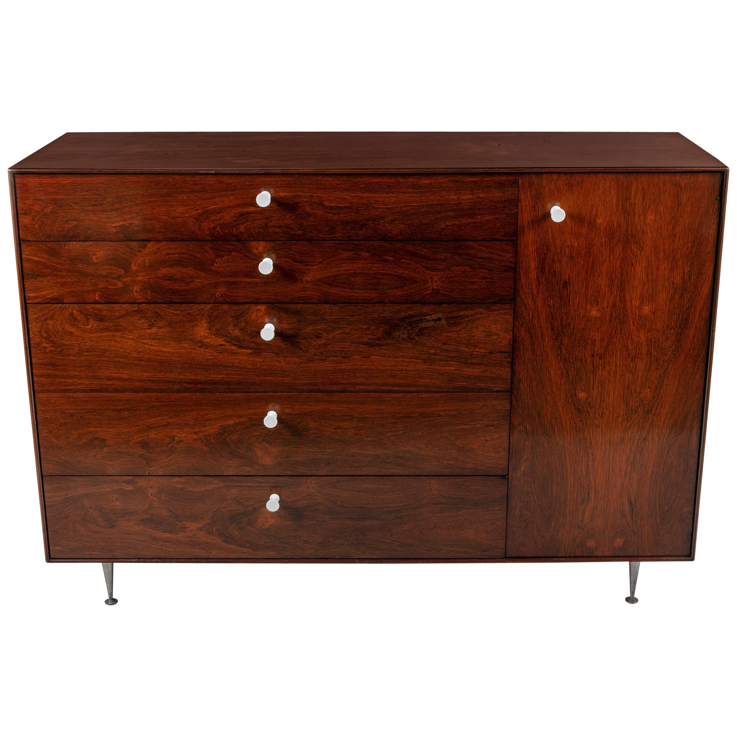 Etonnant George Nelson Rosewood Thin Edge Chest Of Drawers/Cabinet, Herman Miller,  1950s For