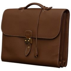 Hermès Mid Tan Leather Sac à Dépêches Briefcase