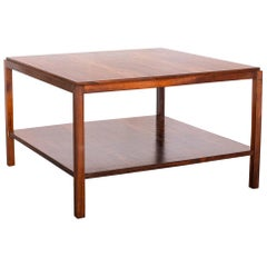 Brazilian Rosewood Square Side Table by Sergio Rodrigues, Brazil, Late 1950s