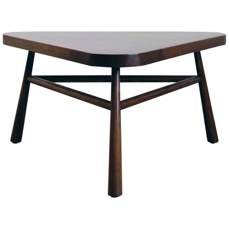 Triangular Coffee Table by T.H. Robsjohn-Gibbings for Widdicomb