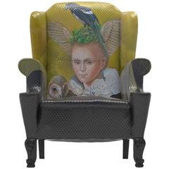 Müüska Art Home Unique Armchair with Naomi Devil's Contemporary Artwork