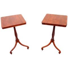 Antique Regency Pair of Rosewood Wine Tables