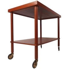 Mid-Century Modern Teak Serving Cart