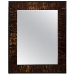 Pair of Veneered Bark Mirrors