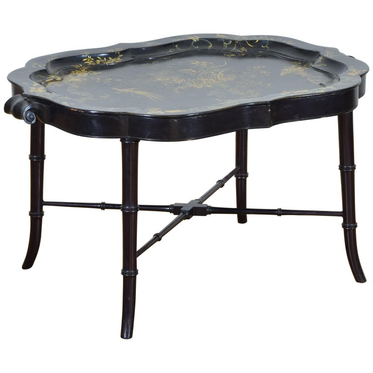 English Chinoiserie Tray Table, Early 19th Century
