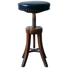 Adjustable Danish Work Stool