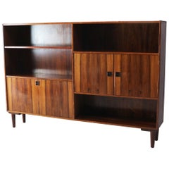 Danish Mid-Century Modern 1960s Rosewood Free Standing Storage Unit