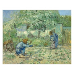 First Steps, after Impressionist Oil Painting by Vincent Van Gogh
