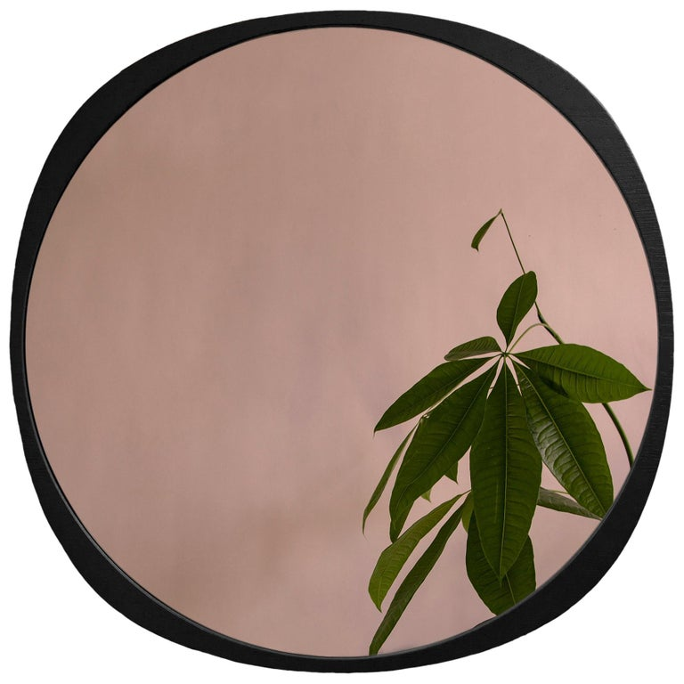 Customizable Fade Mirror from Souda, Peach Mirror and Black Frame