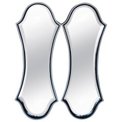 Pair of Parchment and Bone Mirrors