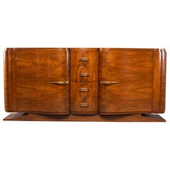 French Art Deco Serpentine Fronted Cabinet