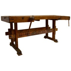 Oak Carpenter's and Joiner's Work Bench