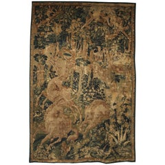 Late 16th Century Flemish Game Park Tapestry with Unicorn, Stag, and Boar
