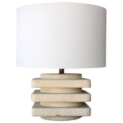 Travertine Table Lamp, Italy, 1970s