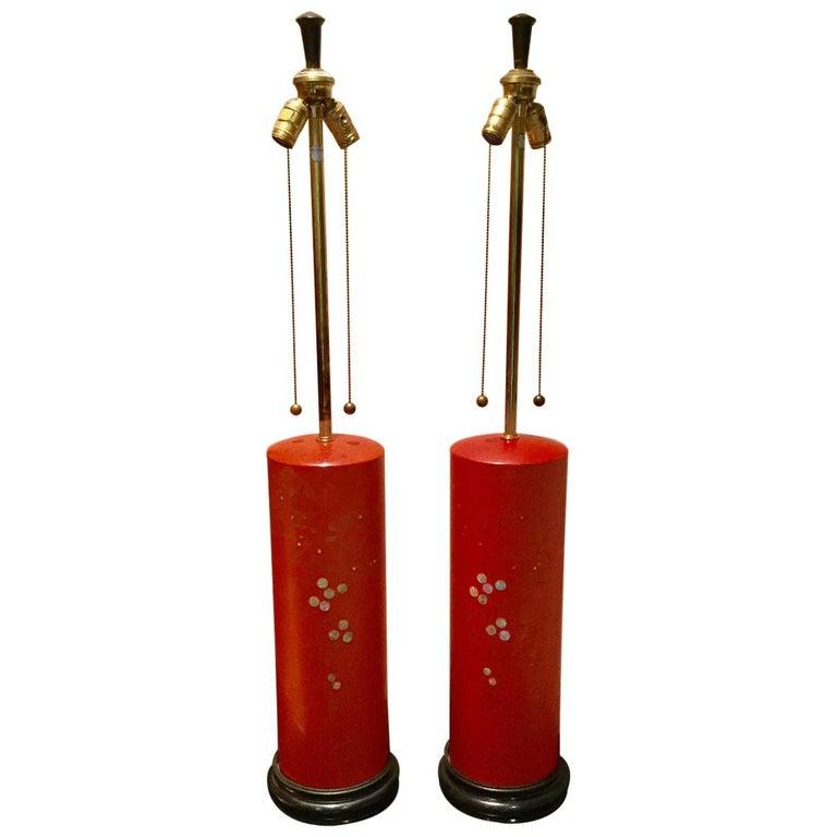 Pair of Hollywood Regency Lamps by Marbro