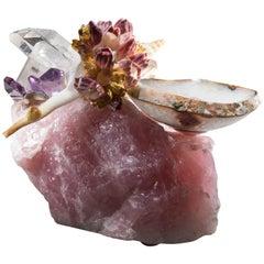 Studio Greytak 'Bling Bowl 2' Brazilian Agate Bowl, Crystals, Shells & Amethyst
