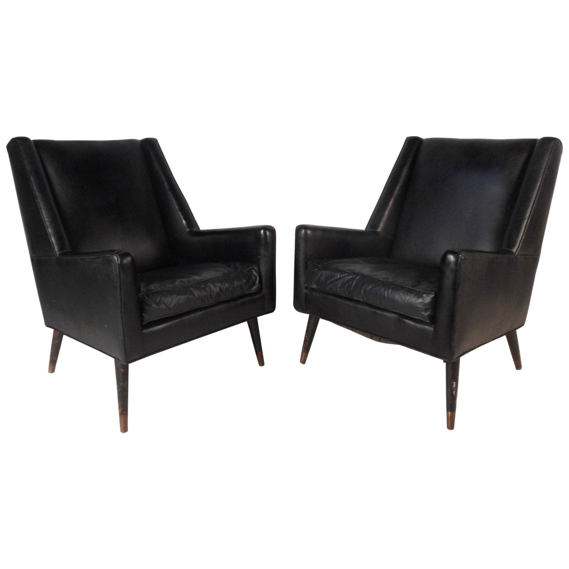 Pair of Midcentury Italian Lounge Chairs
