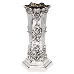 Art Nouveau Sterling Silver Vase