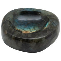 Labradorite Vide Poche Bowl, Rare and Large in Size, Hand-Carved in Madagascar
