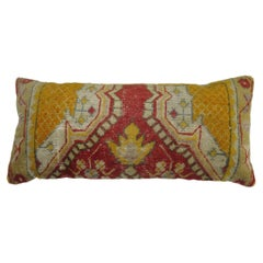 Antique Turkish Oushak Bolster Pillow