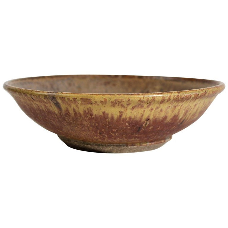 Modernist Karen Karnes Objects U.S.A. Studio Art Pottery Stoneware Bowl For Sale