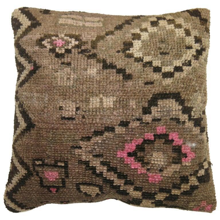 Turkish Kars Rug Pillow For Sale