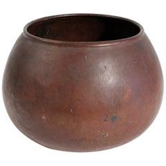 1910 Dirk Van Erp & D'arcy Gaw Hand-Hammered Copper Warty Jardiniere Vase Pot