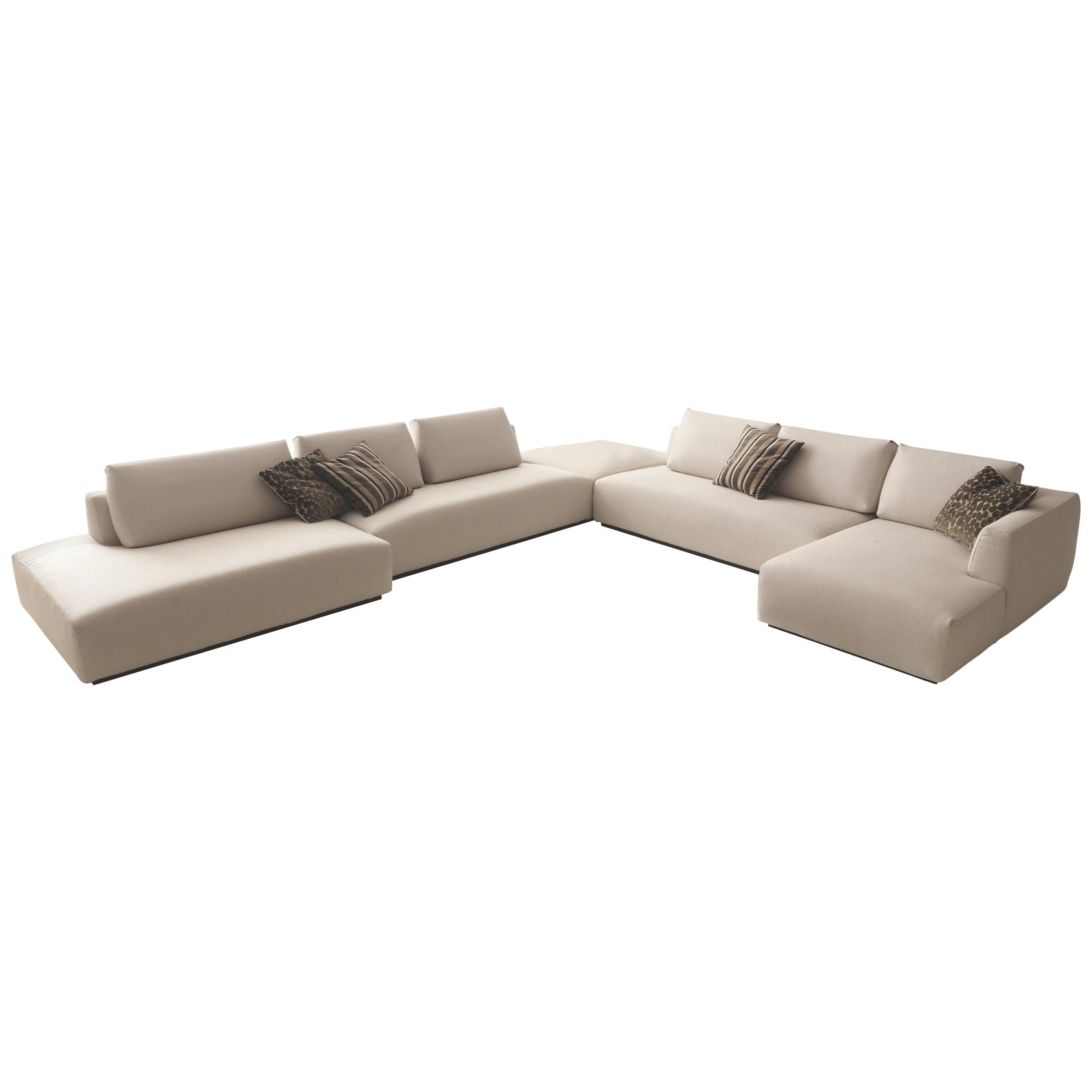 Italian design furniture sectional sofa made in italy fabric new for sale at 1stdibs