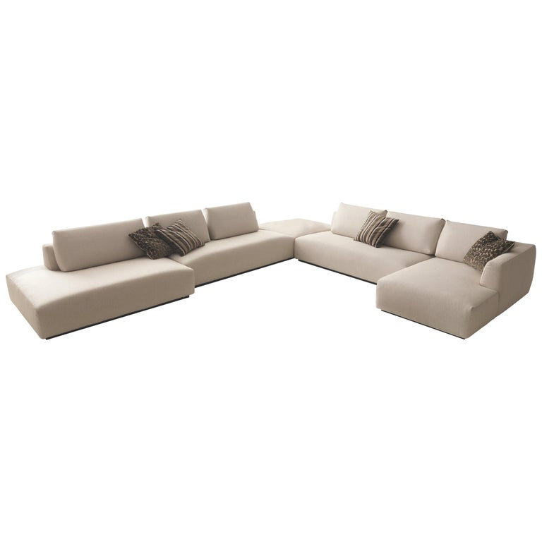 Italian Design Furniture Sectional Sofa Made In Italy Fabric New For
