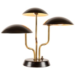 1952 Gino Sarfatti 3-Shade Table Lamp for Arteluce