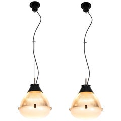 Pair of Large 1960s Ignazio Gardella Pendants for Azucena
